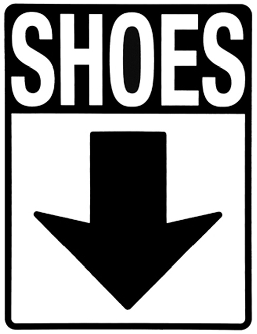 Take off shoes sign